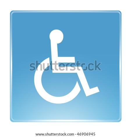 Handicapped wheelchair access sign
