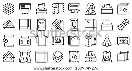 Handkerchief icons set. Outline set of handkerchief vector icons for web design isolated on white background