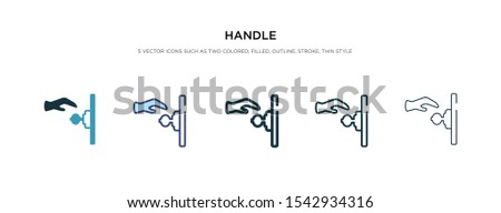 handle icon in different style vector illustration. two colored and black handle vector icons designed in filled, outline, line and stroke style can be used for web, mobile, ui Сток-фото ©