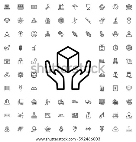 handle with care icon illustration isolated vector sign symbol. Logistic icons vector set.