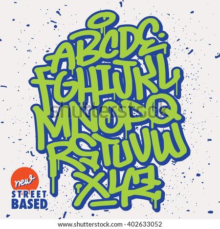 handlettering graffiti font
