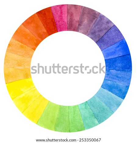 handmade color wheel isolated