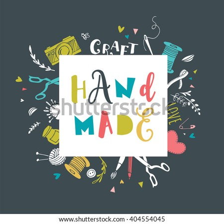 Shutterstock Handmade, crafts workshop, art fair and festival poster
