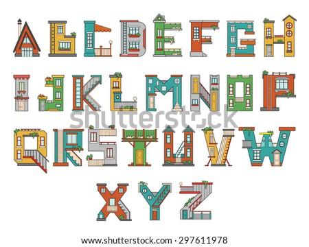 handmade font with cartoon