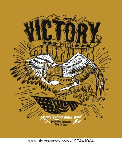 handmade illustration eagle
