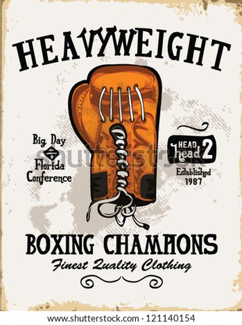 handmade illustration vector sketch athletics  boxing gloves logo with wording for apparel.
