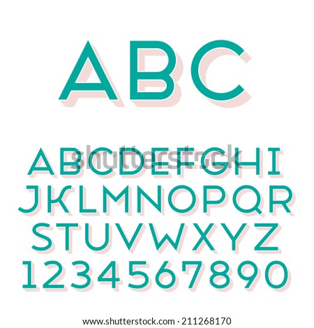 Handmade sans-serif font Regular 3d-extruded type Main glyph and 3D extruded part placed in separate layers of vector file
