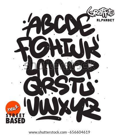 handmade street based font