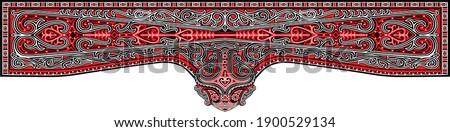 handmade traditional sculptural patterns. which is usually carved in the house of the Batak tribe is called Jabu Bolon. This traditional carving called the gorga comes in red, black and white.