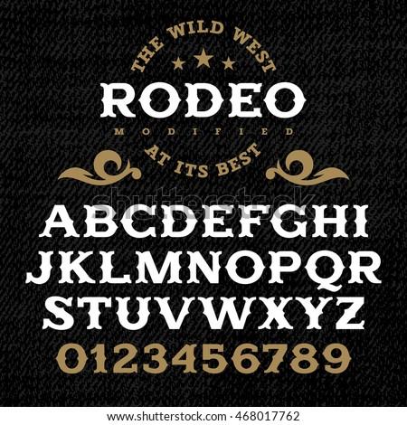 handmade vintage font for...