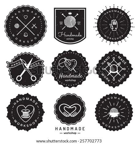 handmade workshop logo vintage