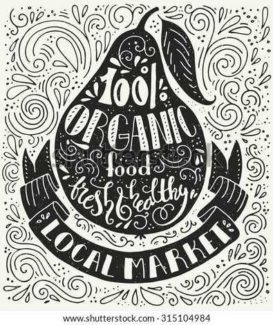 handpainted quote about organic
