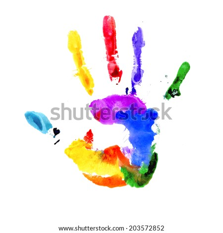 handprint in colors of the