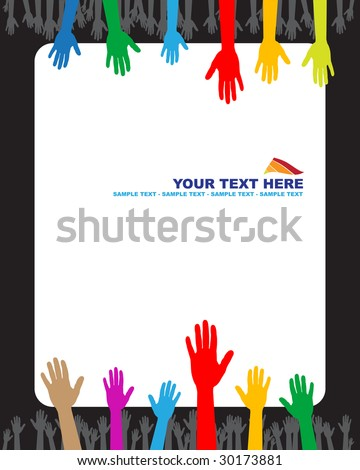 Hands and banner