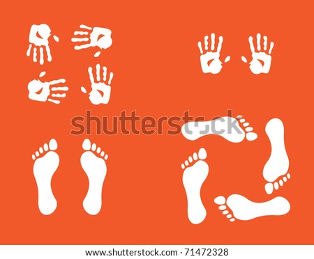 hands and foots illustration
