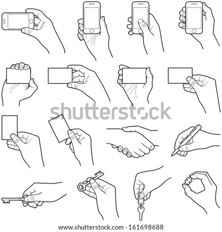 Hands collection vector illustration