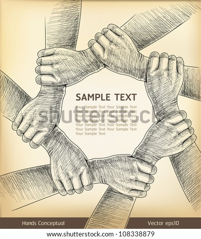 Hands Conceptual. Vector illustration.