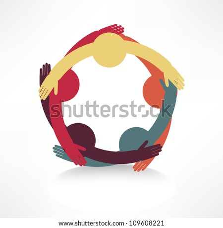 hands connecting icon