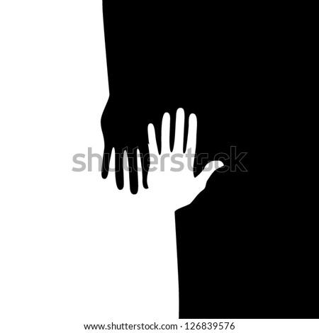 Hands equal - stock vector