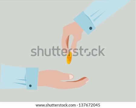 Hands Giving & Receiving Money