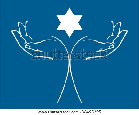 Hands holding a star of david