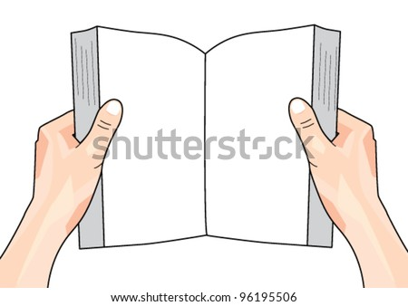 how to draw someone holding a book