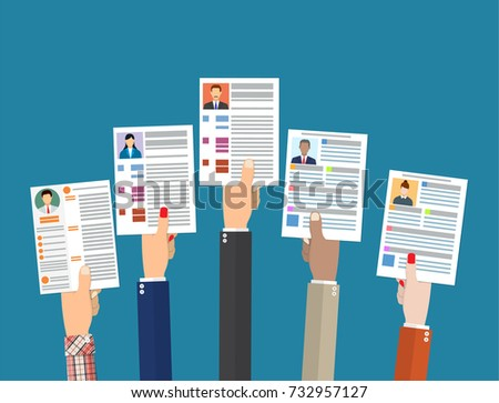 job search with cv illustration vector download free vector art