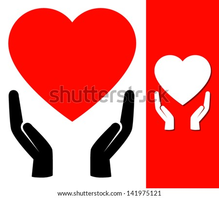 Hands holding heart  | Affection | love | Sharing | Caring