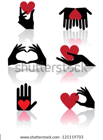 Hands holding hearts