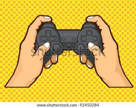 Hands Holding Joystick