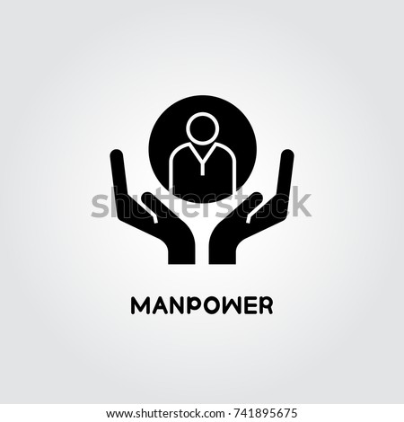 hands holding people for manpower concept