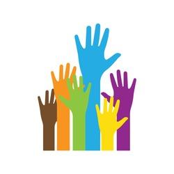 Hands icon. Logo vector illustration.