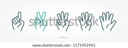 Hands Number Vector Banner