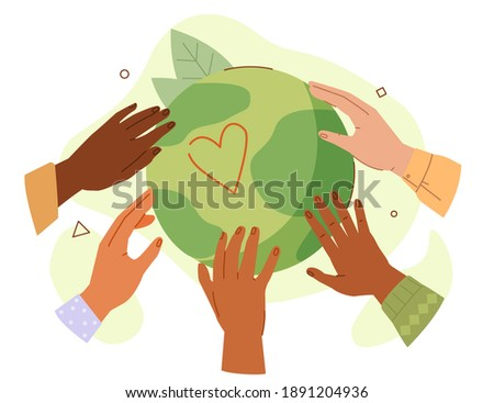 hands of diverse people