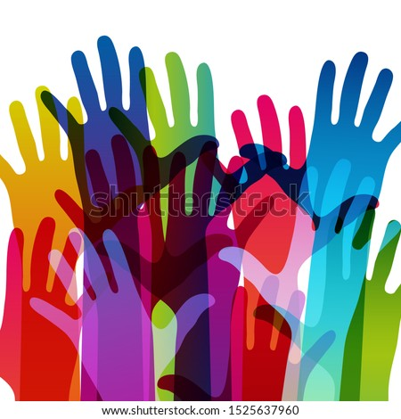 hands on a light background