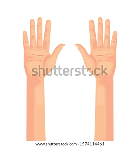 hands person human isolated icon vector illustration design