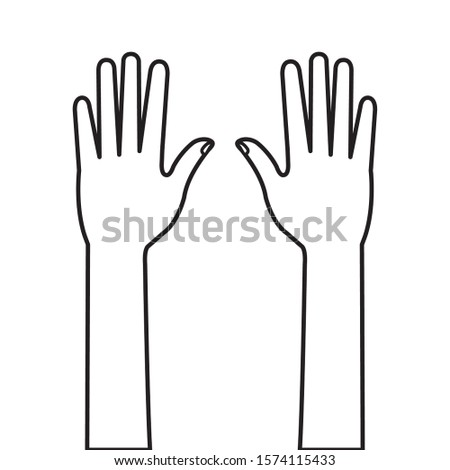 hands person human line style icon vector illustration design