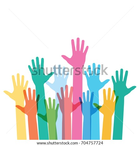 hands raising love with heart Stock photo ©