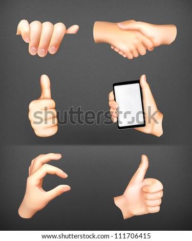 Hands set vector