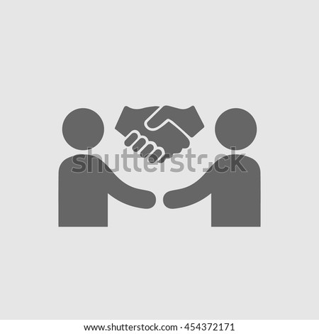 Hands shaking vector icon. Two businessmen handshake simple isolated symbol illustration. Business success pictogram.