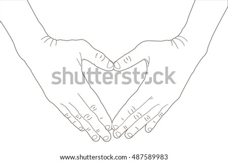 hands shaping a heart symbol on
