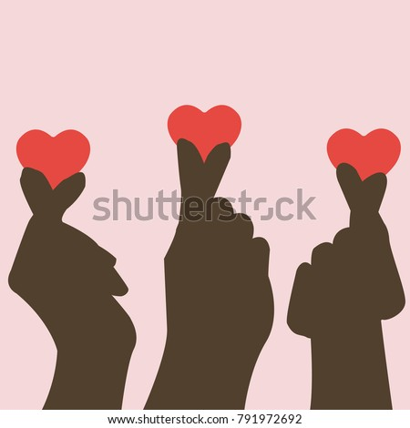 hands silhouette making heart
