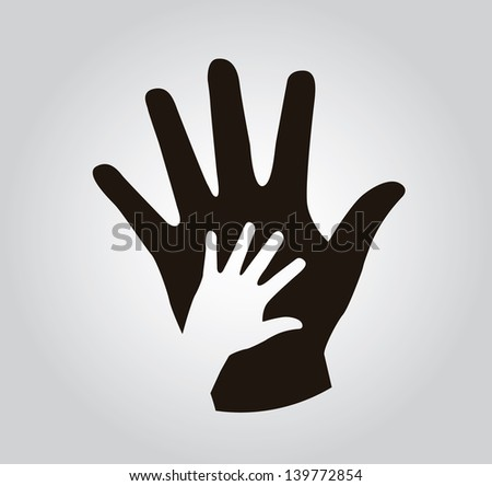 hands silhouette over gray