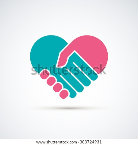 hands together heart symbol