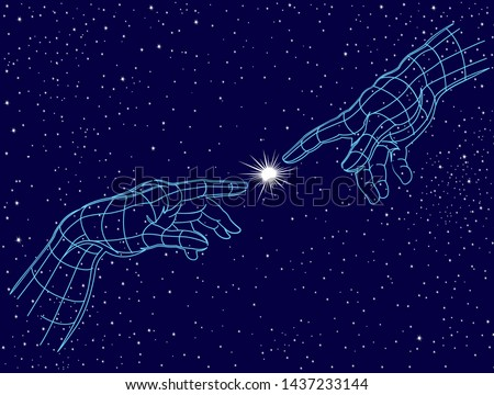 hands touching creation