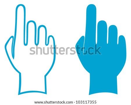 Hands. Vector