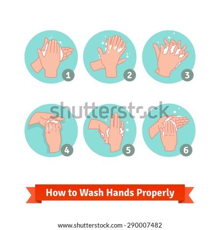 hands washing medical