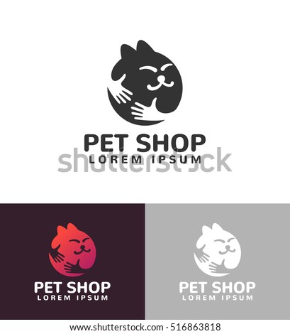 hands with cat silhouette logo