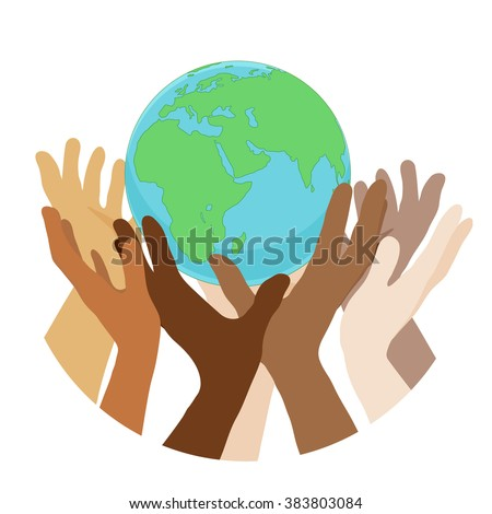 hands with earth  people of the