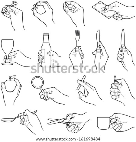 hands with objects collection